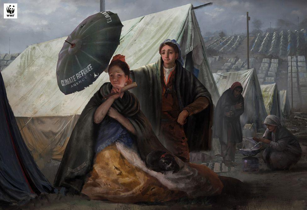 """В редакции экологов обращается внимание на появление """"климатических беженцев"""" \ WWF SPAIN / MUSEO DEL PRADO"""