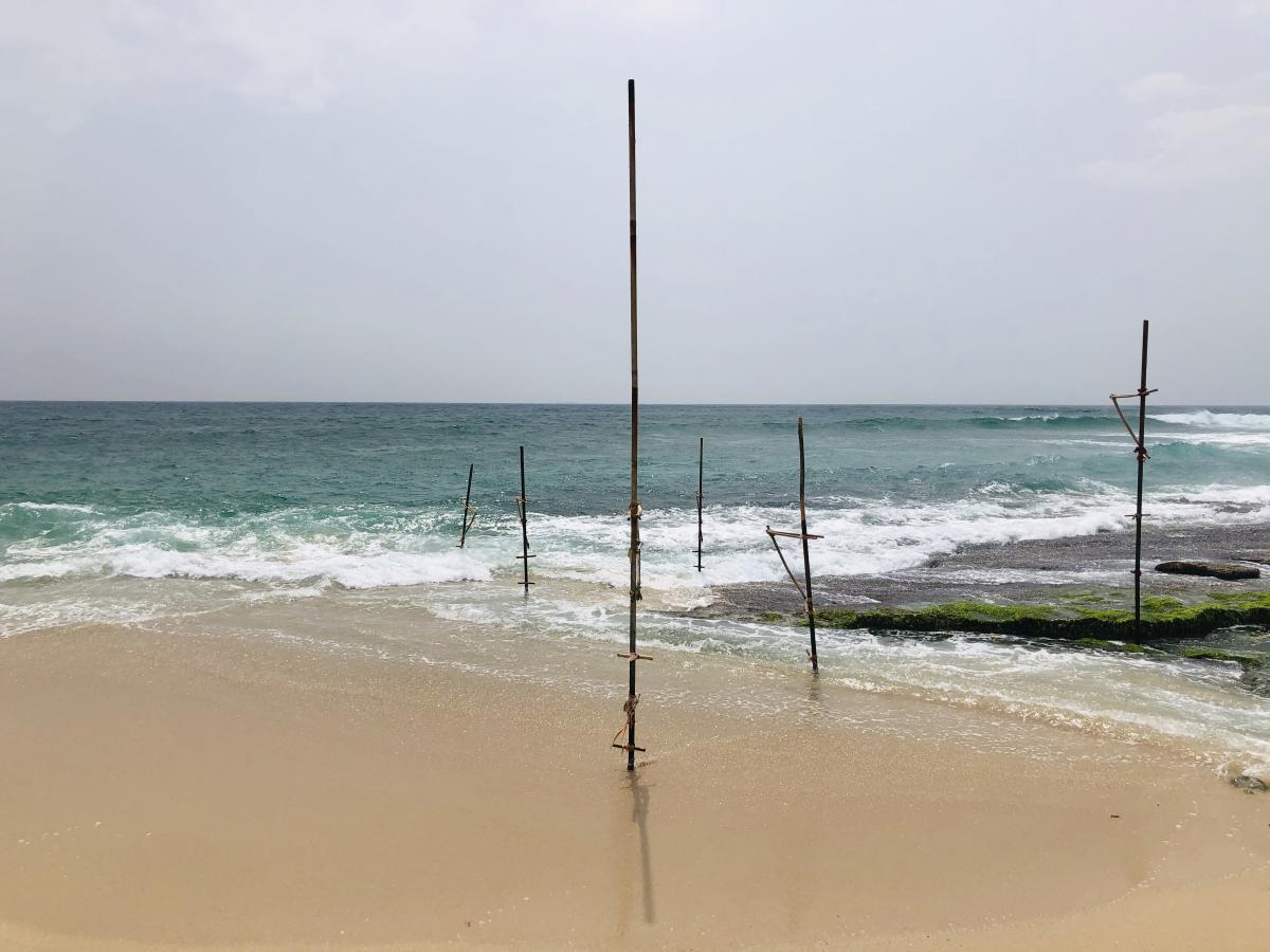 Одинокие шесты без рыбаков / Фото Вероника Кордон