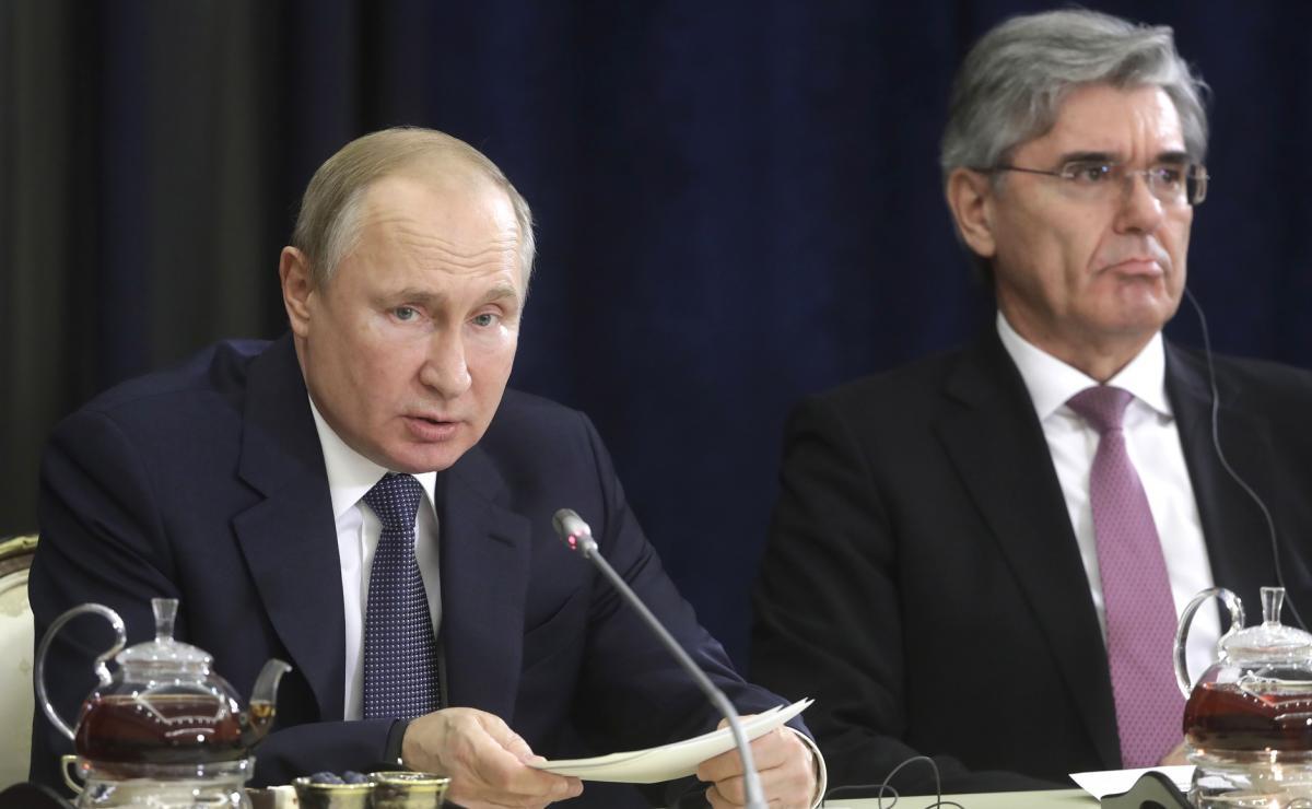 Директор Siemens встречался с Путиным в разгар скандала между ФРГ и Россией / Kremlin.ru