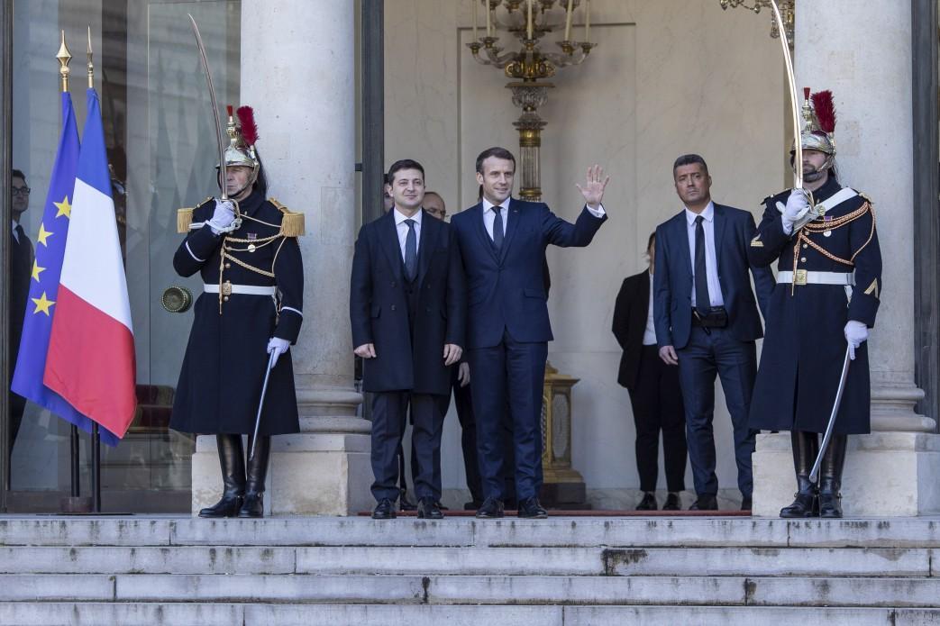 Volodymyr Zelensky and Emmanuel Macron / Ukrainian President's Office
