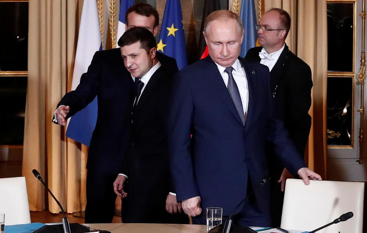Год назад Зеленский и Путин встретились в Париже / REUTERS