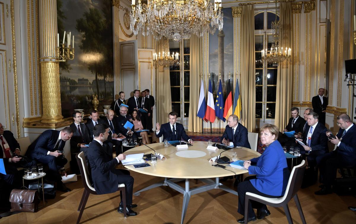 """""""Нормандский саммит"""" 9 декабря 2019 года в Париже / фото REUTERS"""