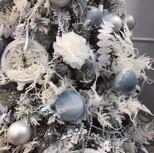 Новогодней елке 2020 подойдут украшения голубого вета / фото из открытых источников