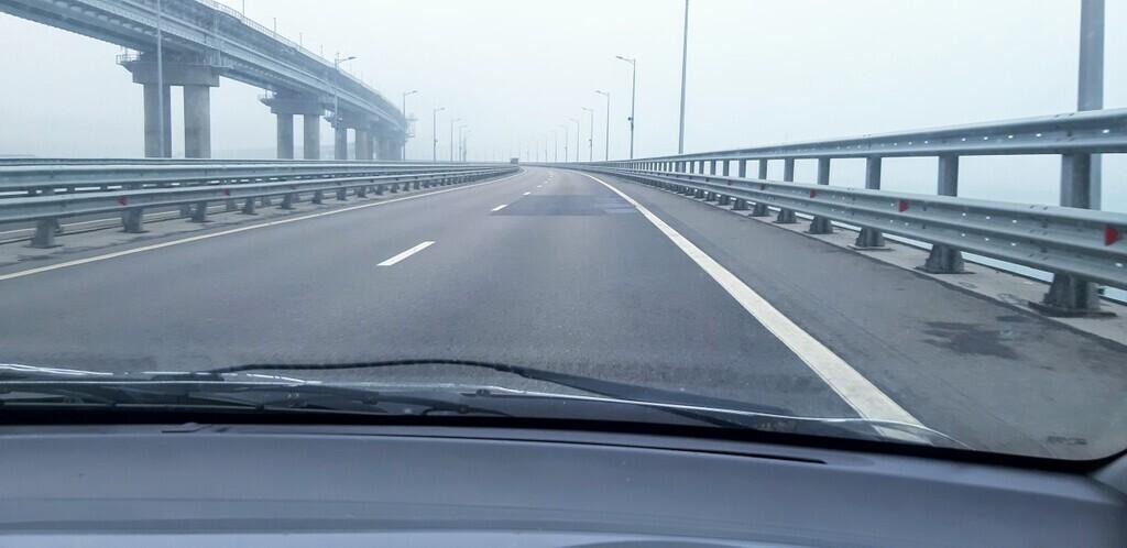 Свежее фото Крымского моста  / twitter.com/krimrt