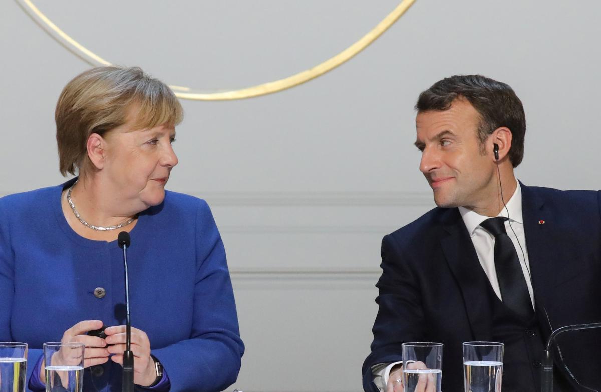 Ангела Меркель та Еммануель Макрон/ REUTERS