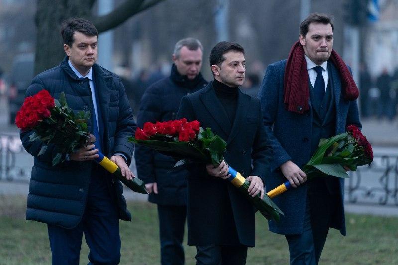 Разом із президентом у заході взяли участь голова ВР Дмитро Разумков та прем'єр-міністр Олексій Гончарук / president.gov.ua