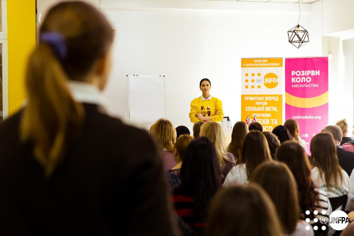Мария Ефросинина посетила приюты для пострадавших от насилия в Славянске и Харькове / фото ukraine.unfpa.org