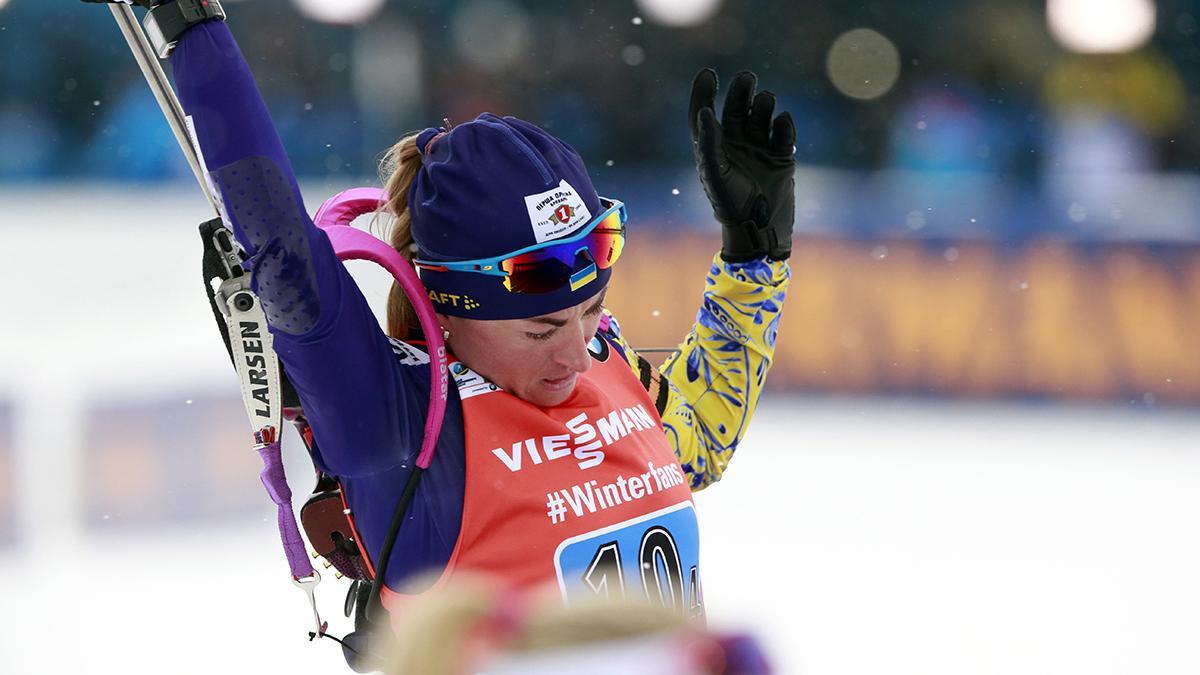 Валентина Семеренко стала дев'ятою / фото biathlon.com.ua