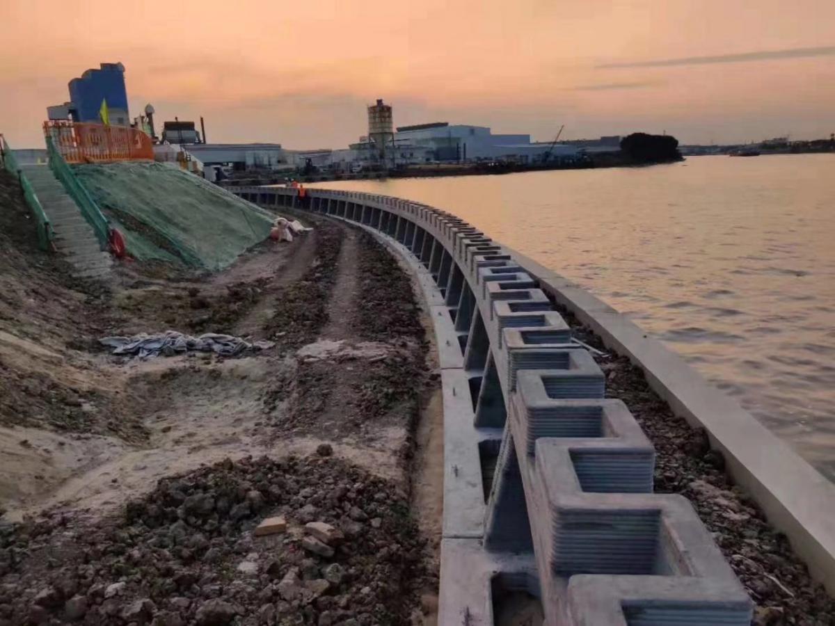 Стіна дозволить захистити берегову лінію від впливу води при повенях / фото 3dprintingmedia.network