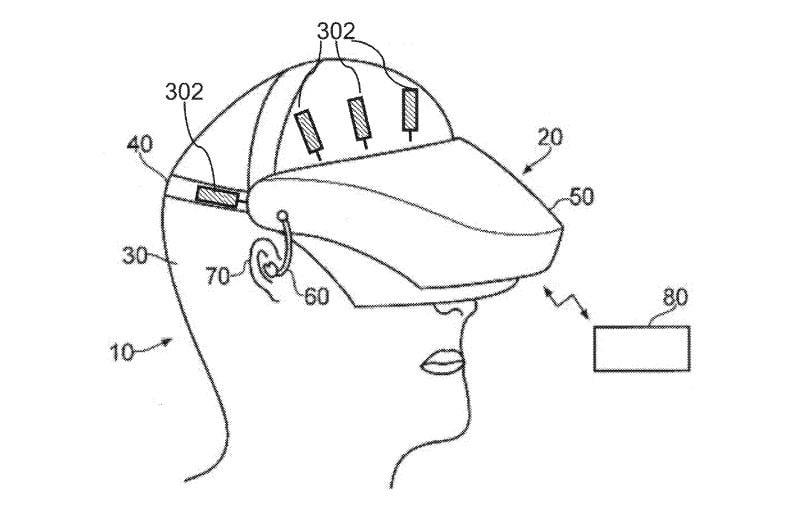 Изображение нового шлема виртуальной реальности от Sony / appft1.uspto.gov