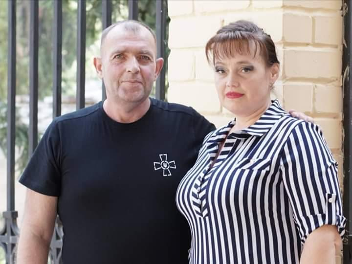 Мичман Юрий будзило с супругой Ириной / УНИАН
