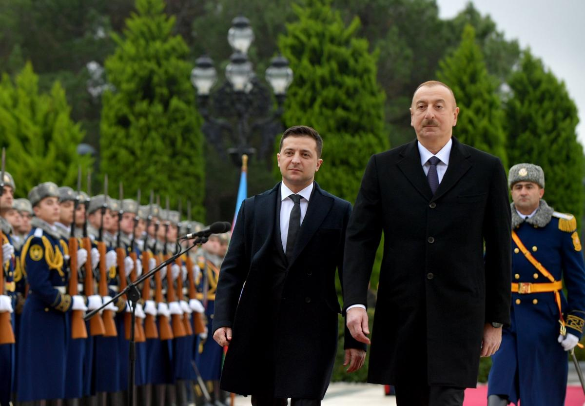 Zelensky met with Aliyev / Photo from Ukrainian president's press service