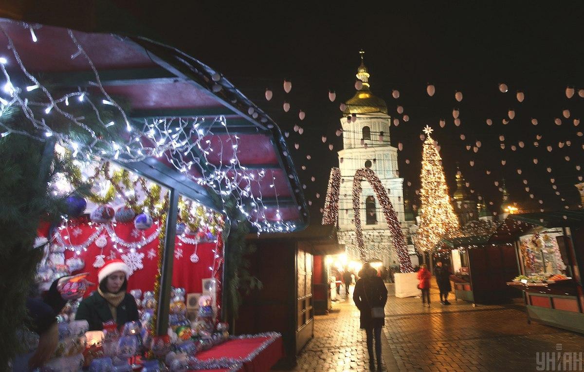 В центре Киева Рождество и другие зимние праздники будут отмечать с 3 января / УНИАН