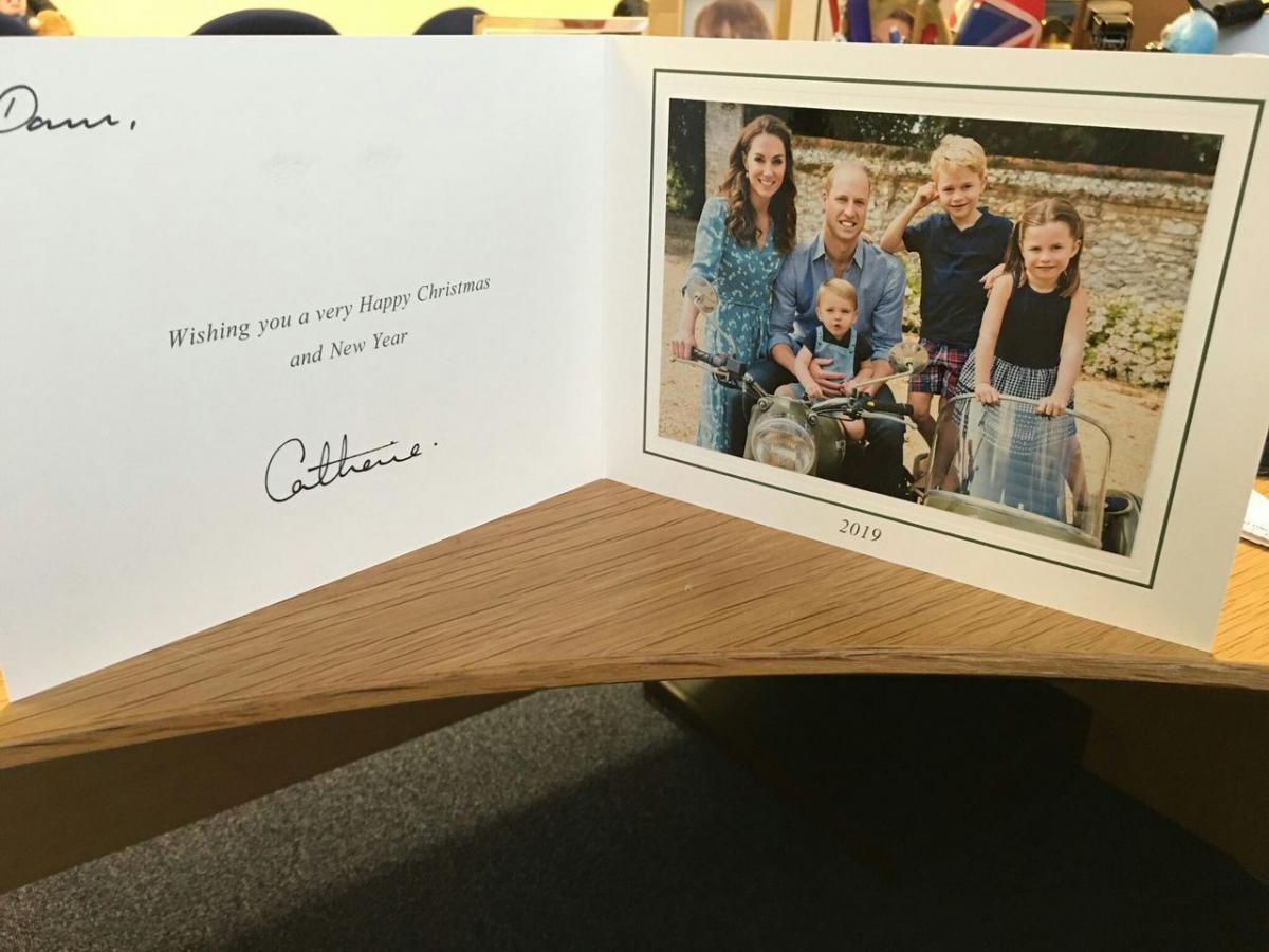 Рождественская открытка герцога и герцогини Кембриджских 2019 года / фото Twitter/aircadets