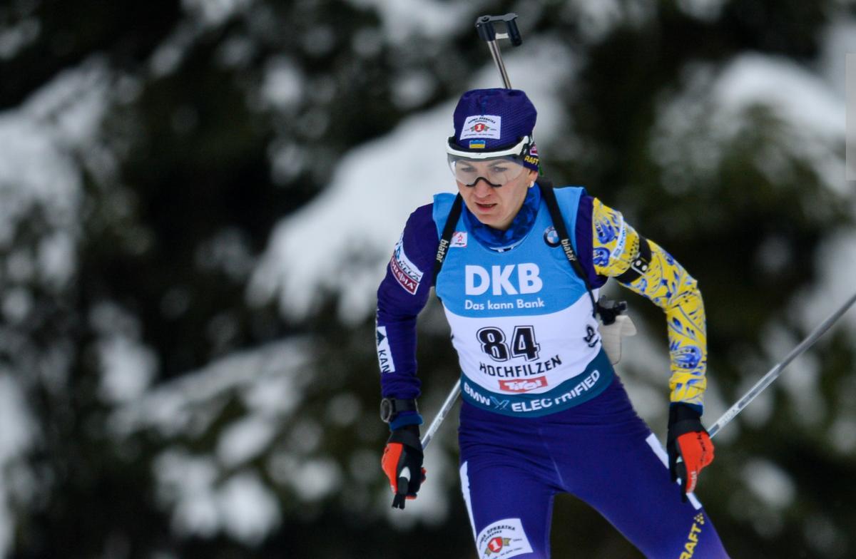Елена Пидгрушная финишировала девятой / фото: biathlon.com.ua