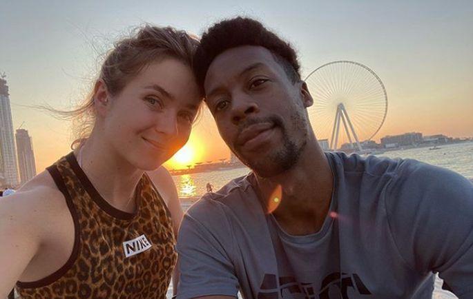 Элина Свитолина и Гаэль Монфис в Дубае / фото: instagram.com/g.e.m.s.life