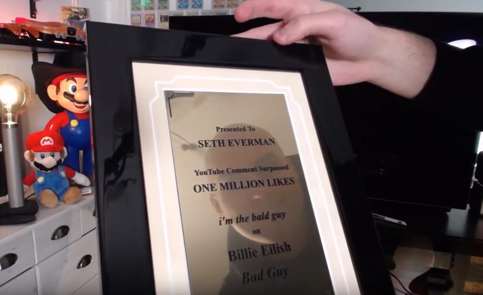 Награда за самый залайканный комментарий на Youtube / Youtube, SethEverman