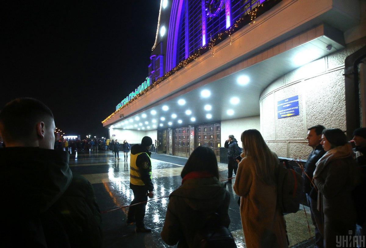 Столичний вокзал відновив роботу / Фото УНІАН