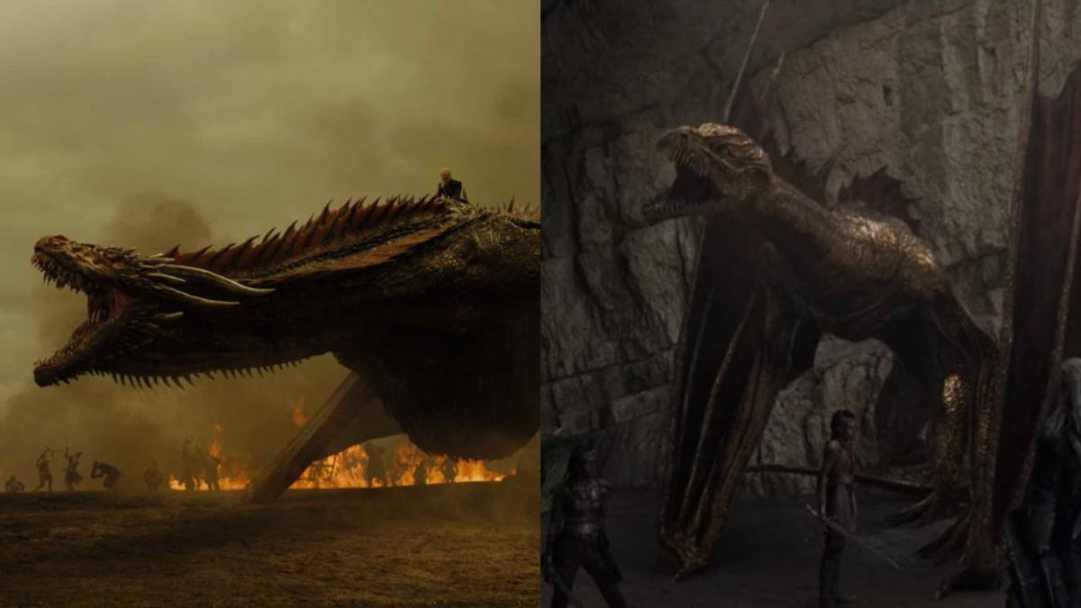 """Слева дракон из """"Игры престолов"""", справа - из """"Ведьмака"""" / скриншот"""