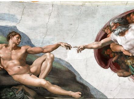 """Знаменитая фреска Микеланджело """"Сотворение Адама"""" / фото: путеводитель по Италии"""