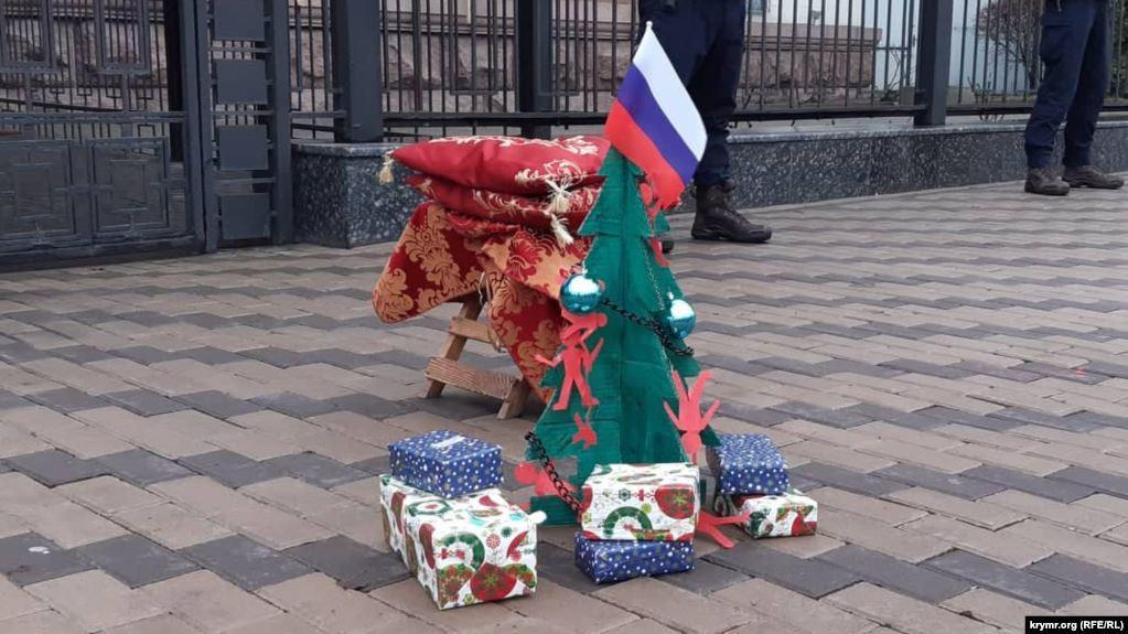 Активисты напомнили о нарушениях прав человека в Крыму / Фото: Крым.Реалии