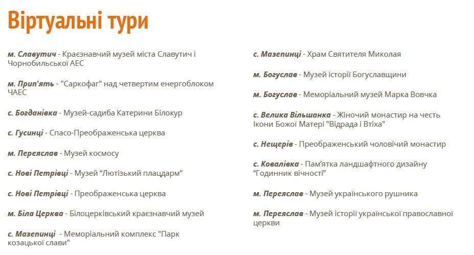 Вже доступні віртуальні тури на сайті «Київщина туристична» / Фото презентація CFC Big Ideas