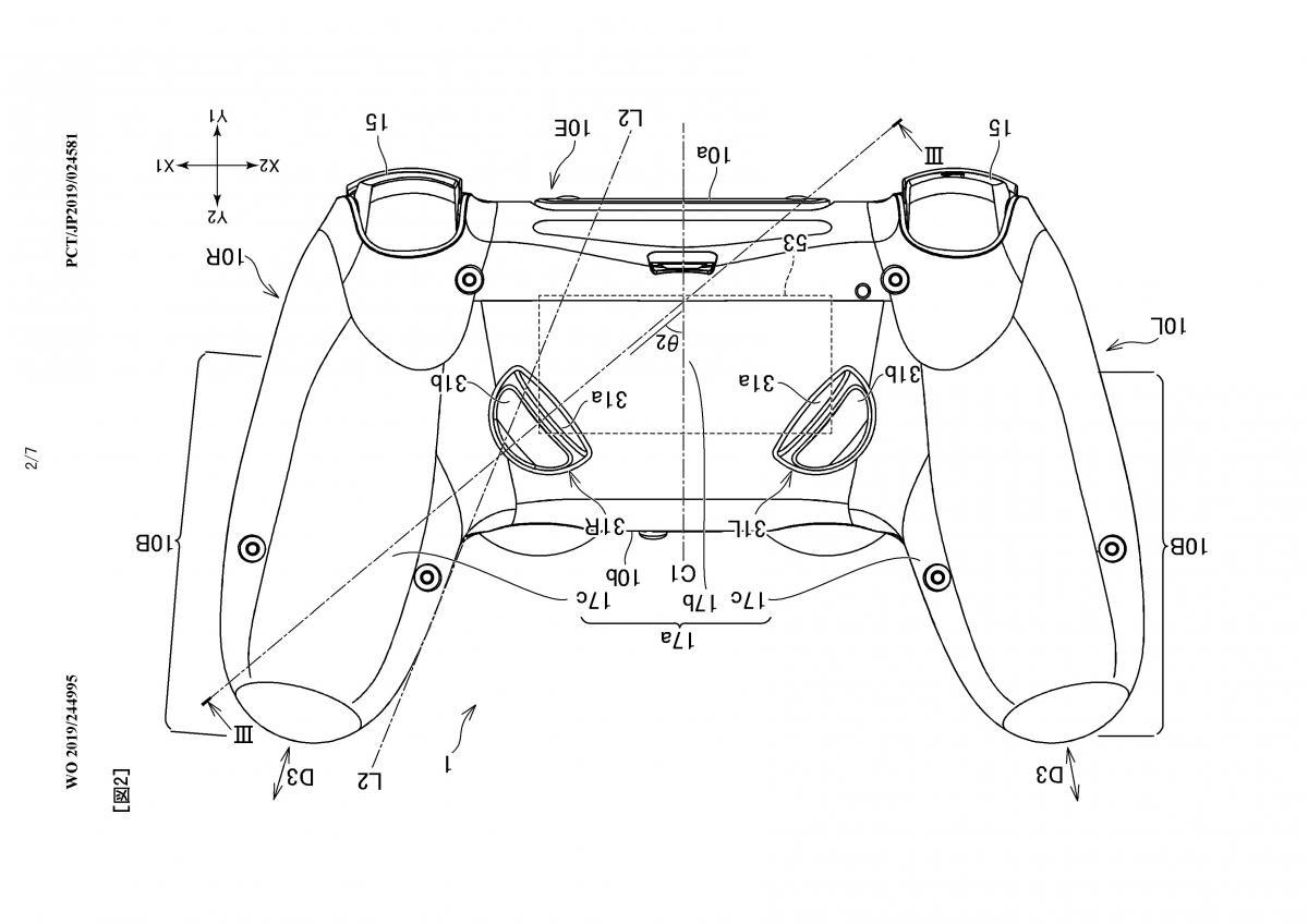 Изображение нового контроллера для Playstation с дополнительными кнопками / wipo.int