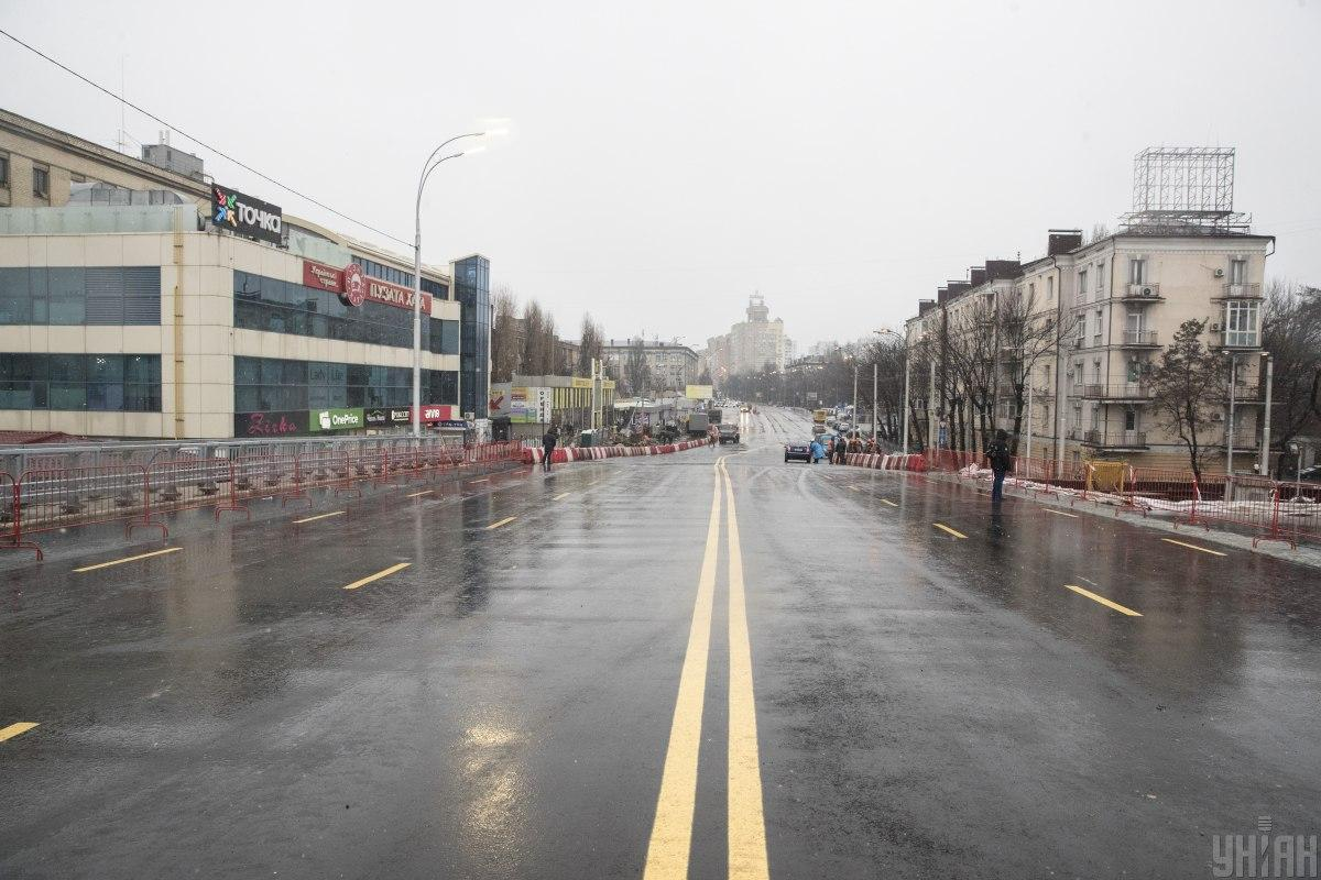 28 декабря 2019 года на Шулявском путепроводе завершили первую очередь работ / фото УНИАН