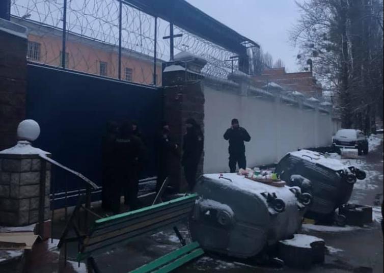 Протестующие не уходят из-под ворот Лукьяновского СИЗО / Facebook, Роман Синицын