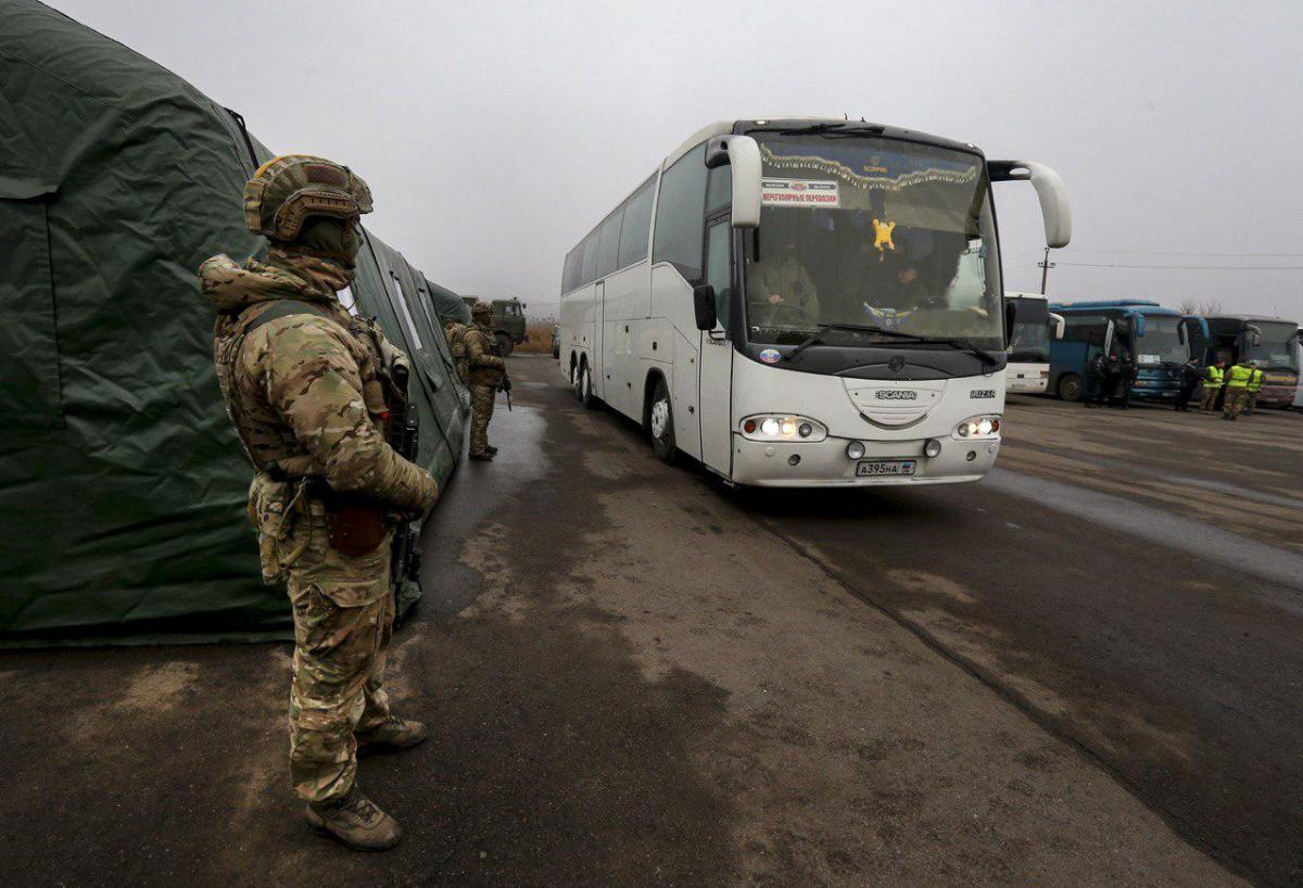 Последний крупный обмен состоялся 29 декабря на КПВВ «Майорское» / фото Офис президента