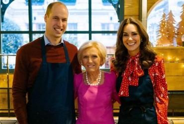 Принц Уильям и герцогиня Кейт приготовили рождественские угощения во время телешоу