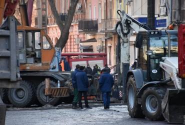 На месте смертельного пожара в Одессе произошло еще одно ЧП
