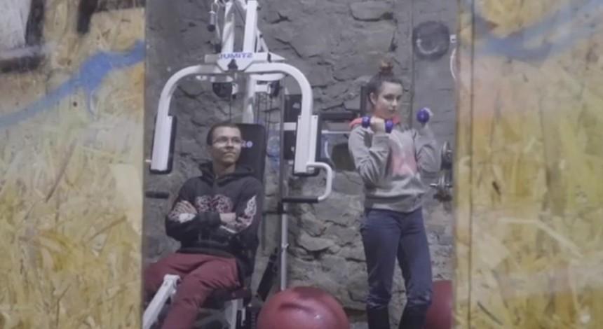 В Харькове подростки самостоятельно переоборудовали котельную в спортзал (видео)