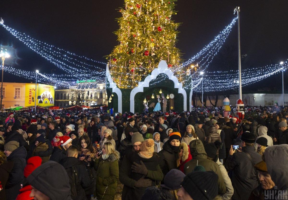 Новий рік у Києві / фото УНІАН