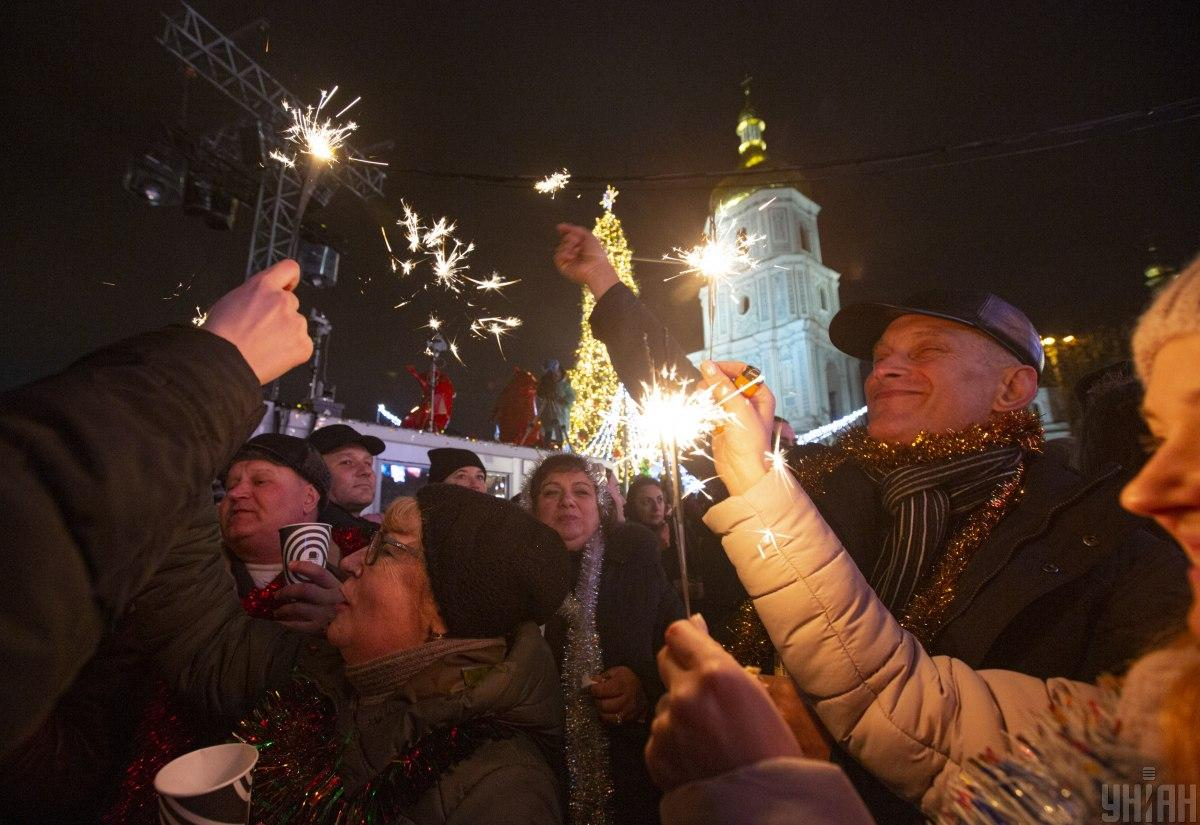 Празднование Нового года в Киеве / фото УНИАН