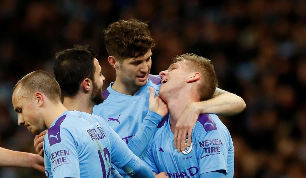 Игроки Манчестер Сити / REUTERS