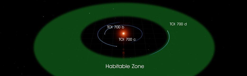 В системе звезды TOI 700 есть три планеты / фото nasa.gov