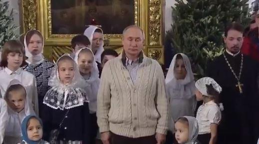 Путин в Храме / Скриншот