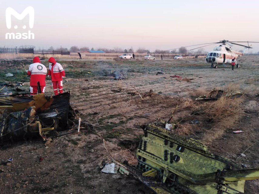 Авиакатастрофа случилась возле иранского аэропорта Имама Хомейни/ фото: Mash