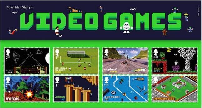 Почтовые марки посвящены проектам британской игровой индустрии / royalmail.com