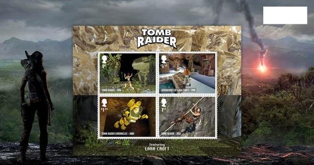 Первые игры Tomb Raider создавала британская студия Core Design / royalmail.com