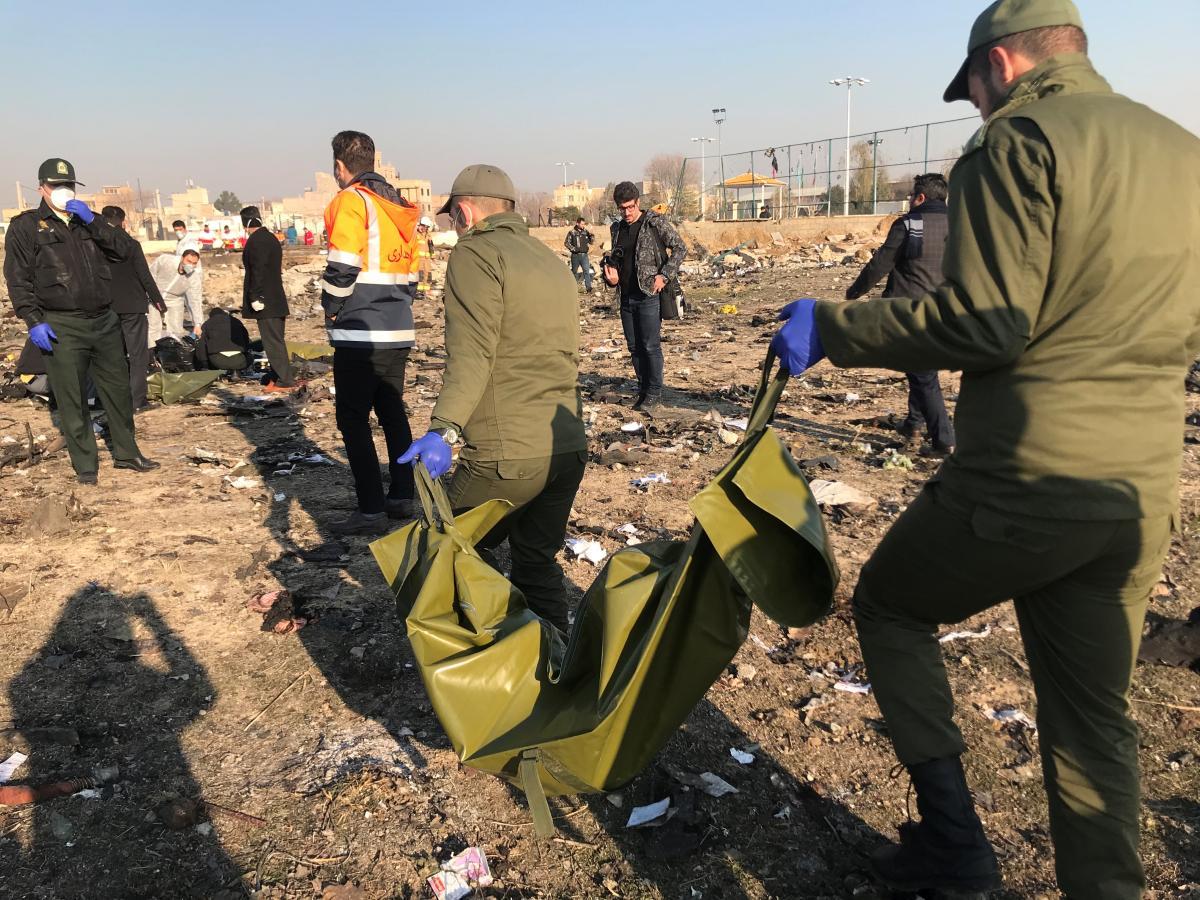 The PS752 crash site outside Tehran, Iran /REUTERS