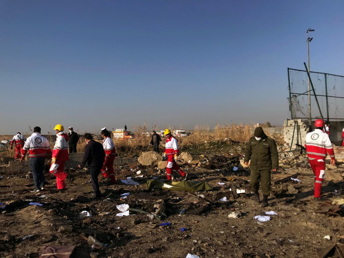 The crash site outside Iran / REUTERS