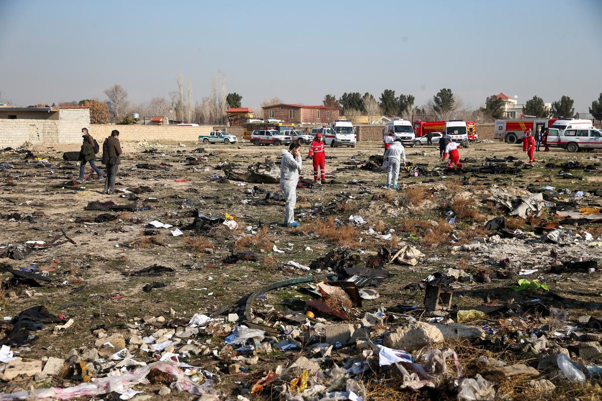 8 января в Иране разбился самолет МАУ / REUTERS