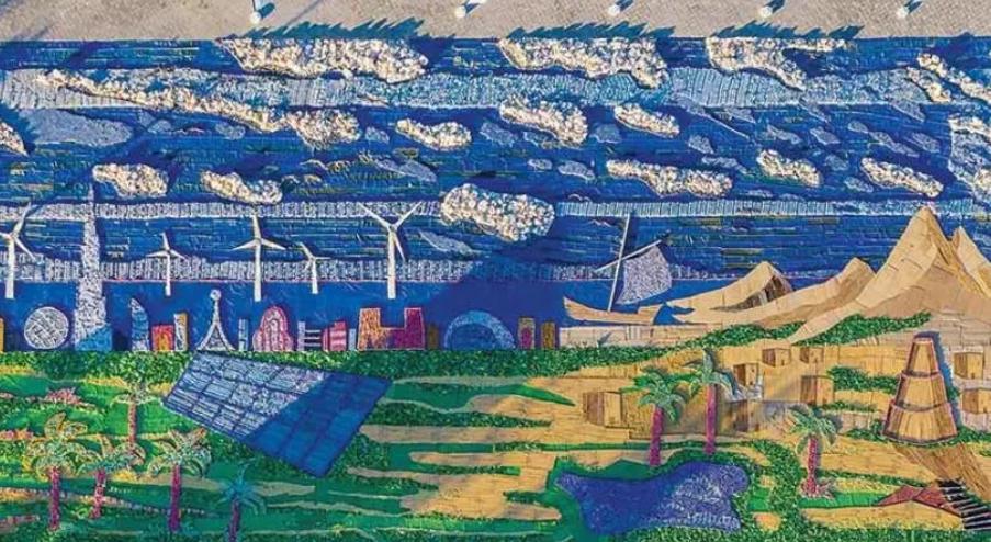 Цель мозаики – привлечь внимание общественности к проблеме образования отходов \ russianemirates.com