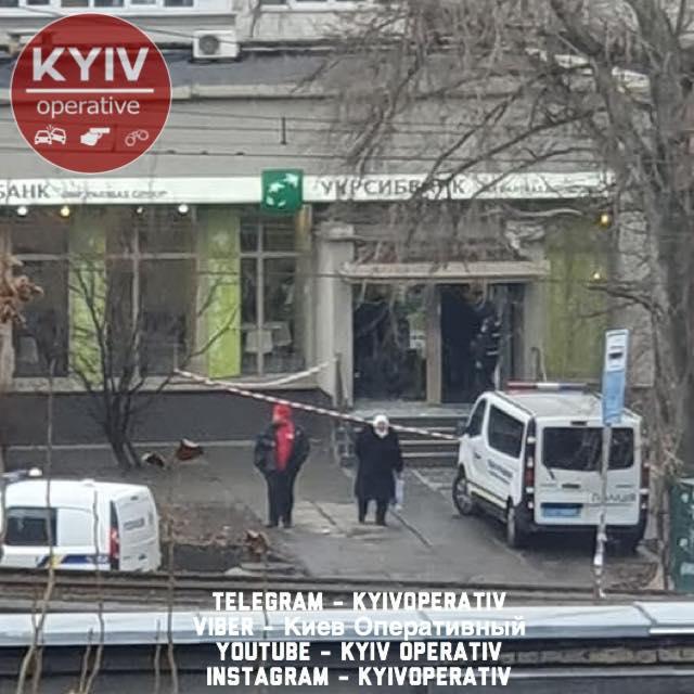 В Киеве пытались ограбить банк на Оболони /Фото: Киев Оперативный