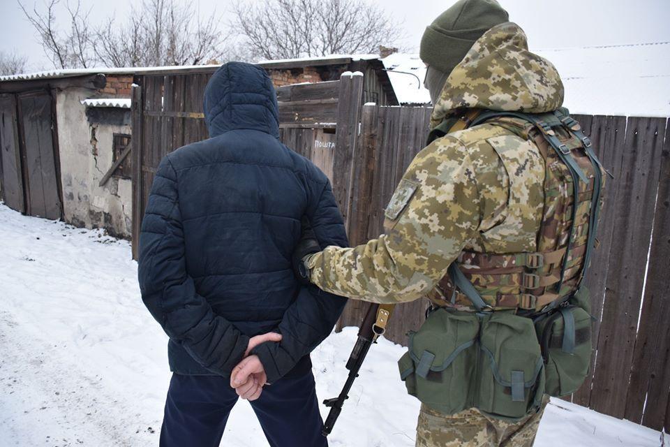 Задержанный - гражданин Украины 1994 г.р. / Фото: пресс-центр штаба ООС