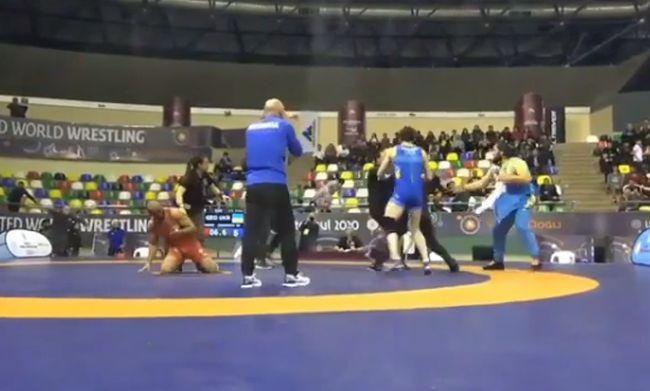 Драка на турнире в Грузии / скриншот