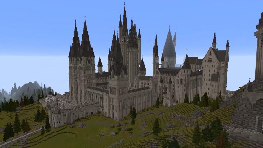 """Игра по вселенной """"Гарри Поттера"""" в Minecraft / скриншот из трейлера"""