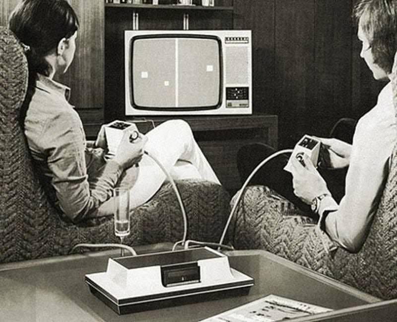 Консоль Magnavox Odyssey с игрой Pong / mrtv.co